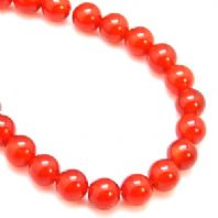 16 Inch Gemstone Red Agate 6mm Round Beads